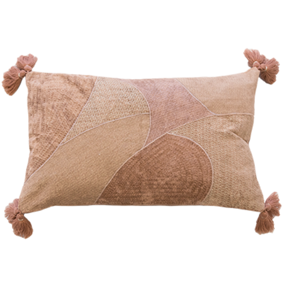 MULBERI Norah Dusty Rose & Gold Cushion 35 x 50cm