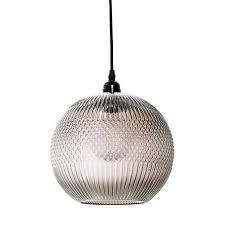 BLOOMINGVILLE Round Pendant Light - Glass Brown