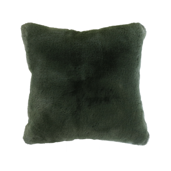 MULBERI Pele Faux Fur Cushion - Seaweed