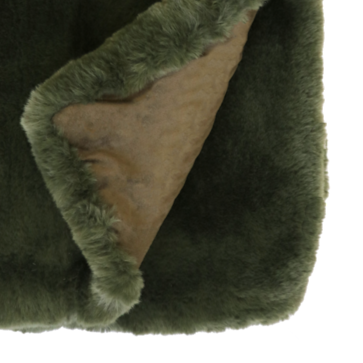 MULBERI Pele Faux Fur Throw - Seaweed