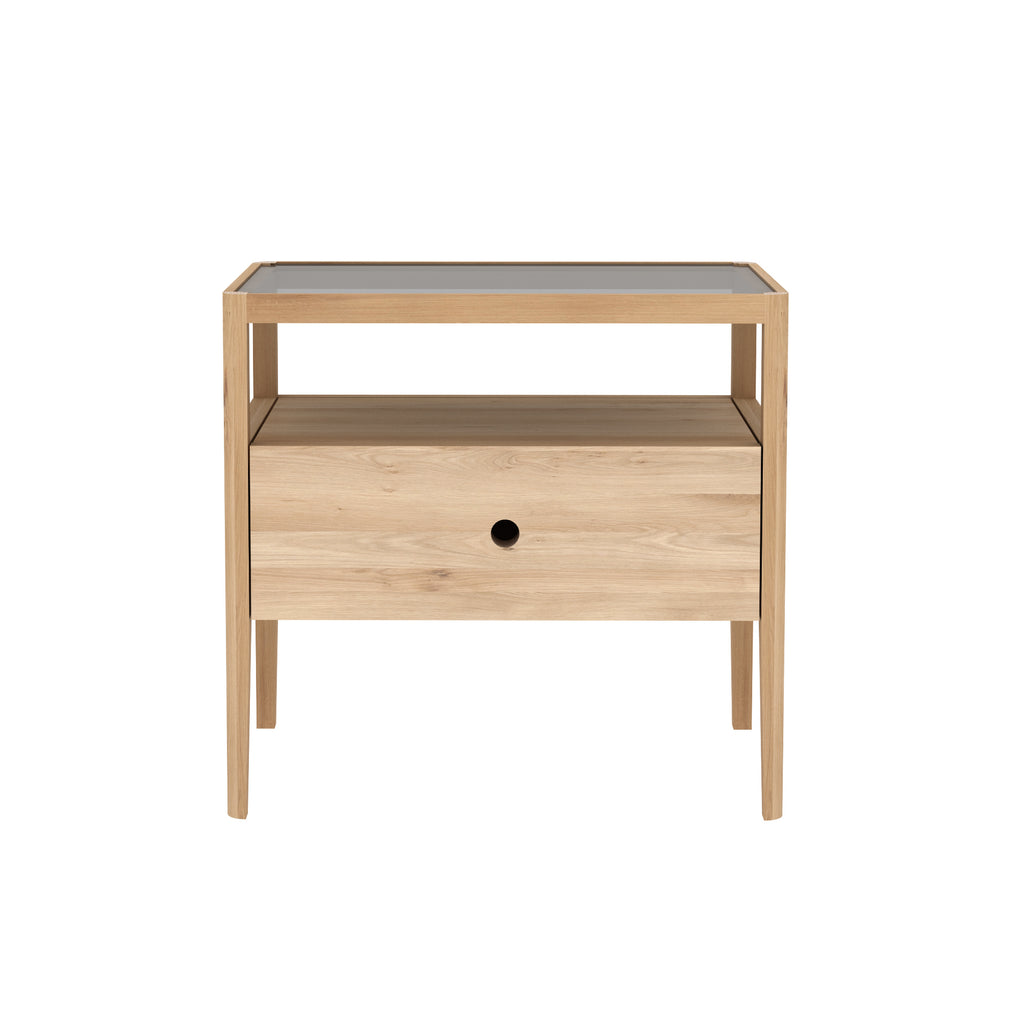 Ethnicraft Oak Spindle Bedside Tables