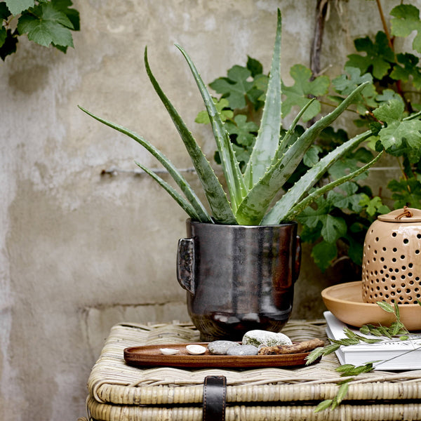 Bloomingville Black Terracotta Planter