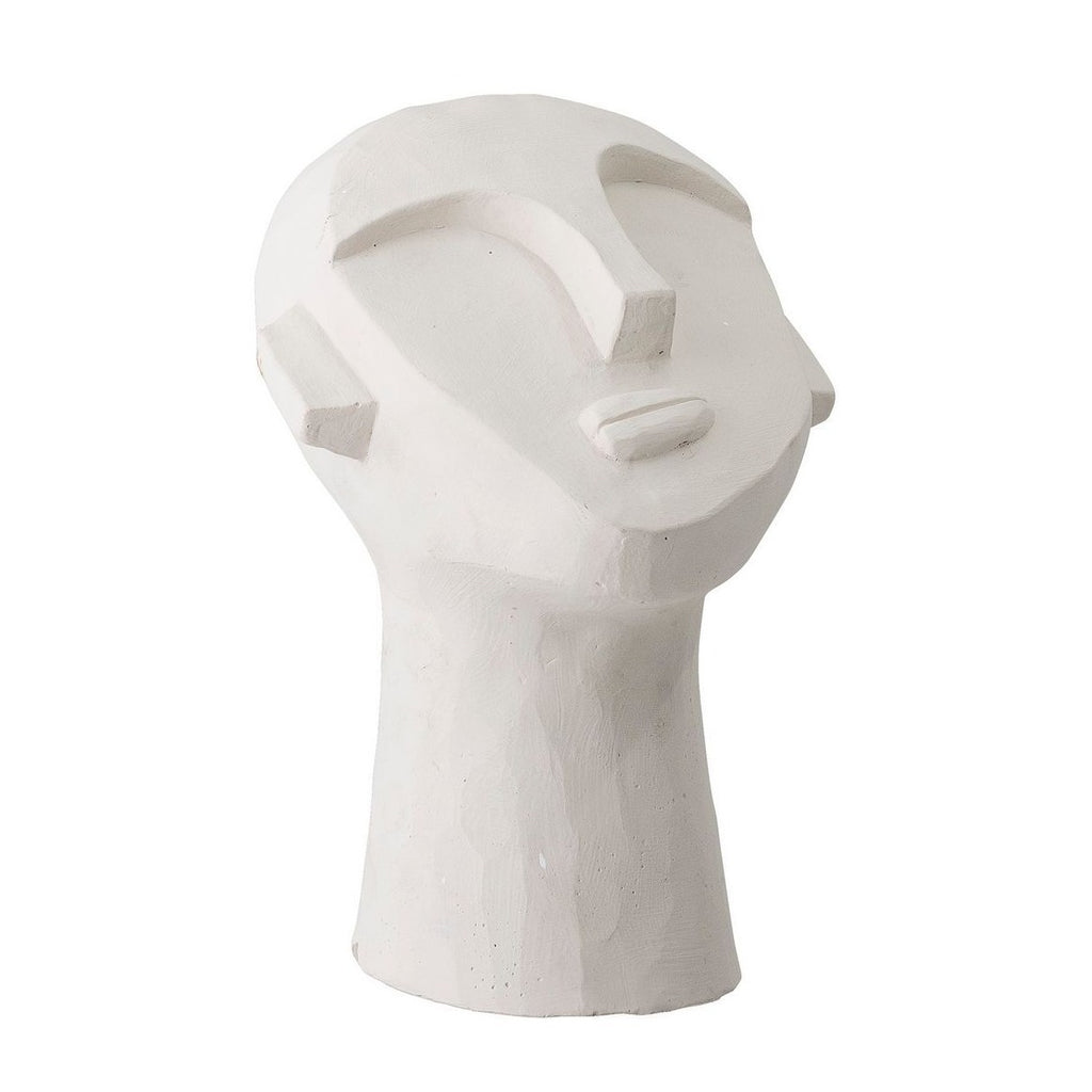 BLOOMINGVILLE Head Sculpture in White Cement