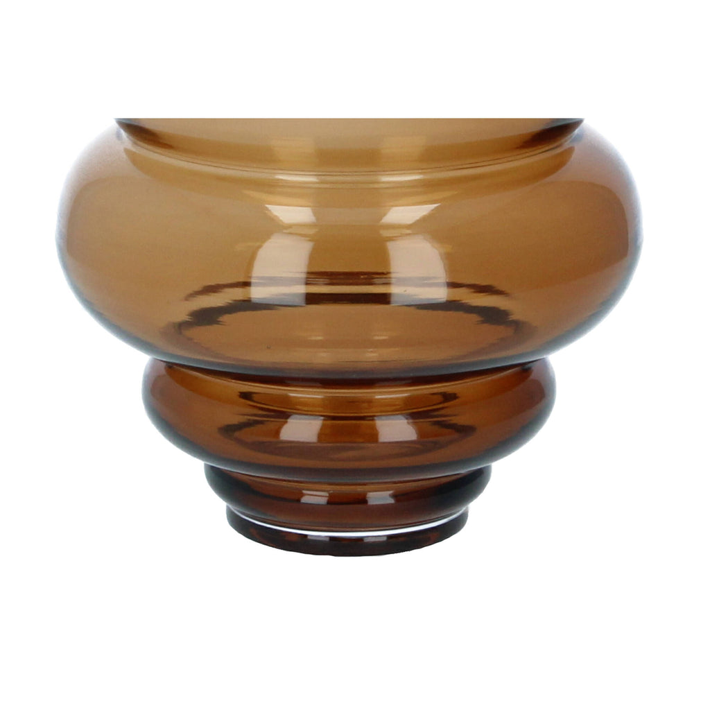 BLOOMINGVILLE  Michelin Brown Glass Vase