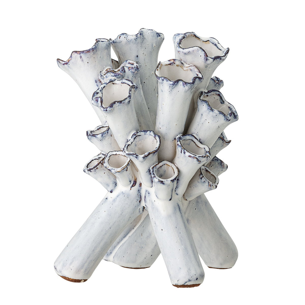BLOOMINGVILLE Fluted White Vase