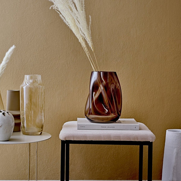 BLOOMINGVILLE Cleo Vase Brown Glass