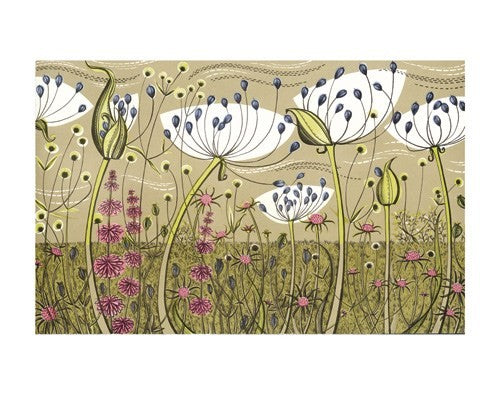 Angie Lewin Blank Card - Agapanthus