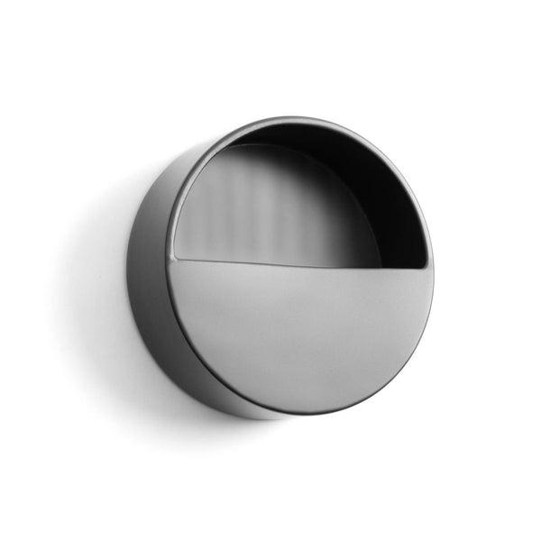 Aldina Round Wall Planter - Black