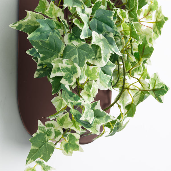 Aldina Oval Wall Planter - Rust