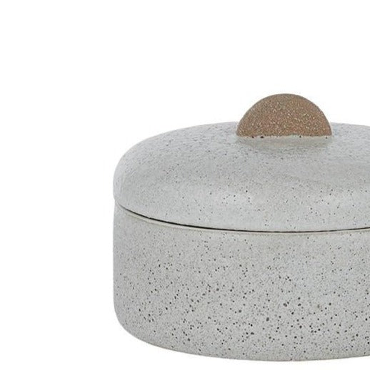 Aline Ceramic Jar - Natural