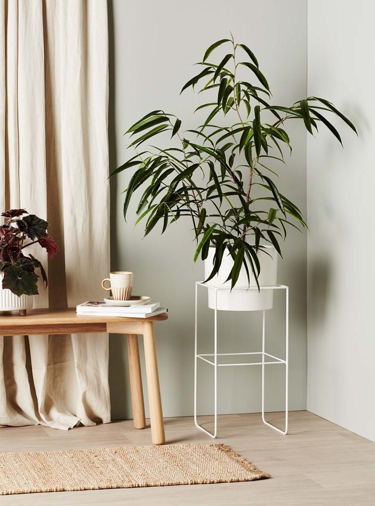 EVERGREEN COLLECTIVE Alto Pot Stand - Tall - White