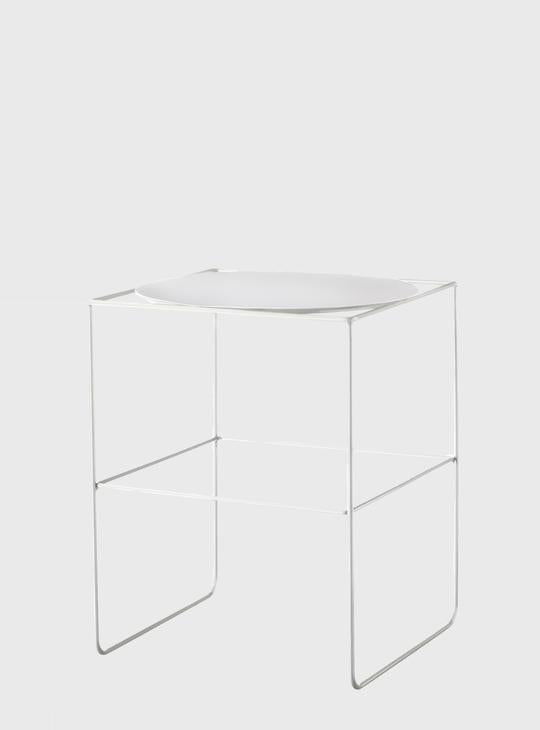 EVERGREEN COLLECTIVE Alto Pot Stand - Short - White