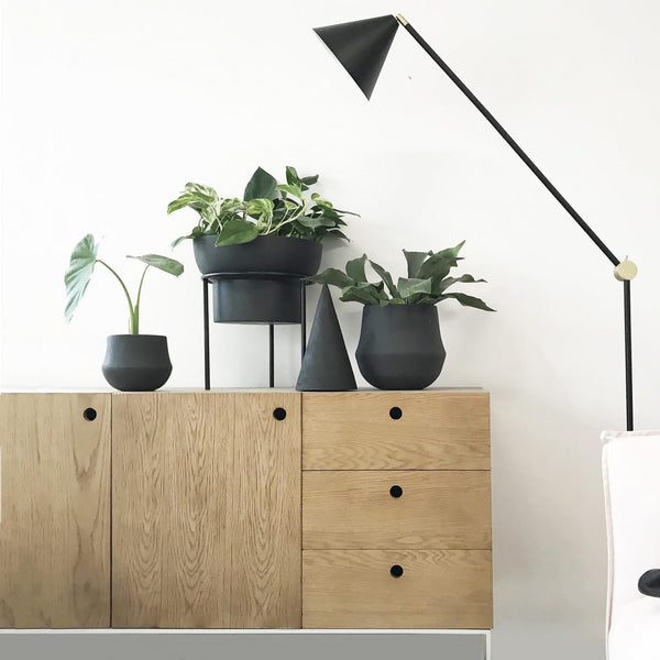 MRD HOME Jenssen Planter - Black - Low