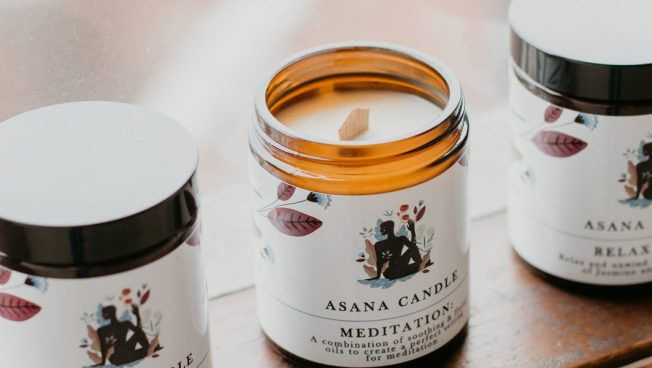 Asana Candle - Wood Wick 100% Soy Wax Candle