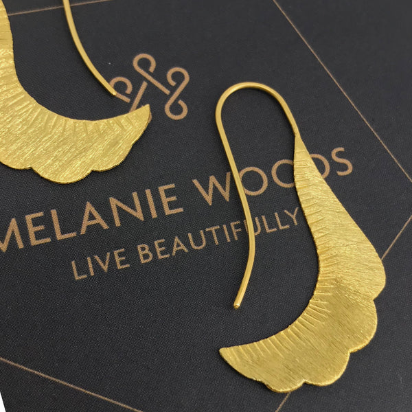 MELANIE WOODS - Long Paisley Earrings
