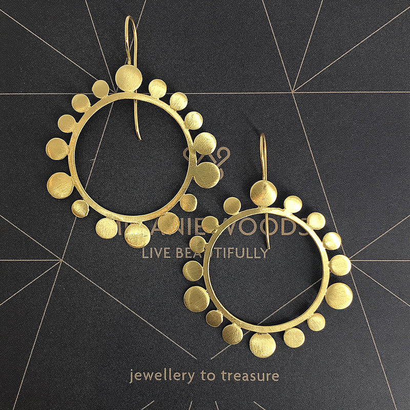 MELANIE WOODS - Round Bubble Drop Earrings
