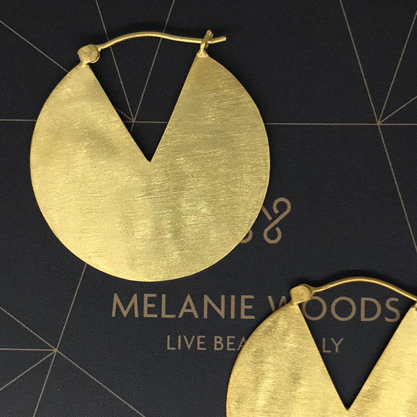 MELANIE WOODS - Reflex Disc Earrings
