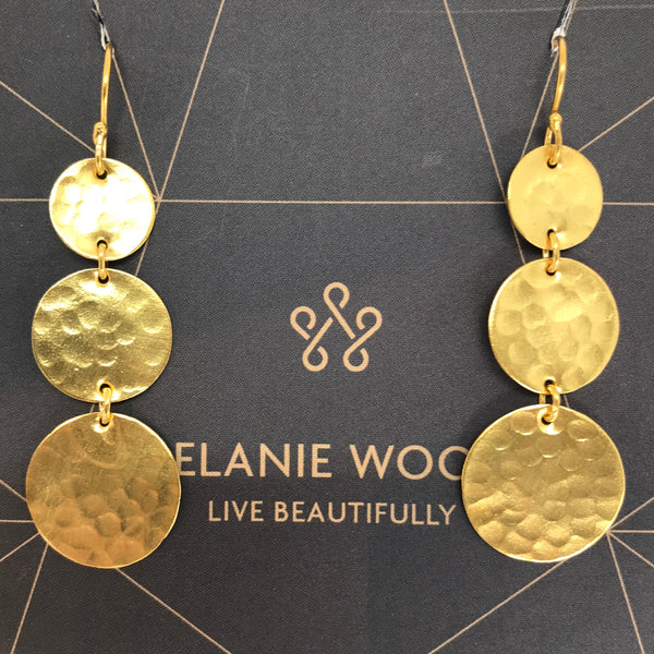 MELANIE WOODS - Triple Drop Earrings