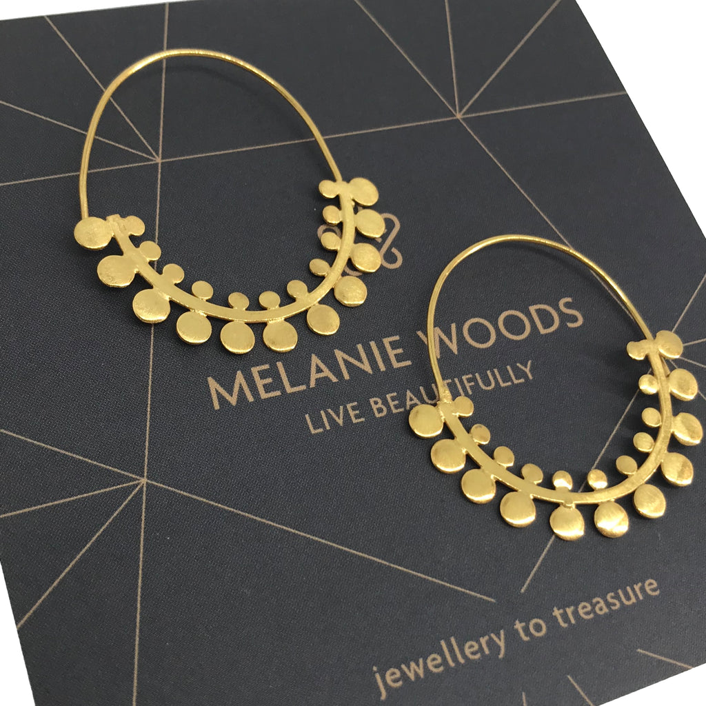 MELANIE WOODS - Fern Hoop Earrings