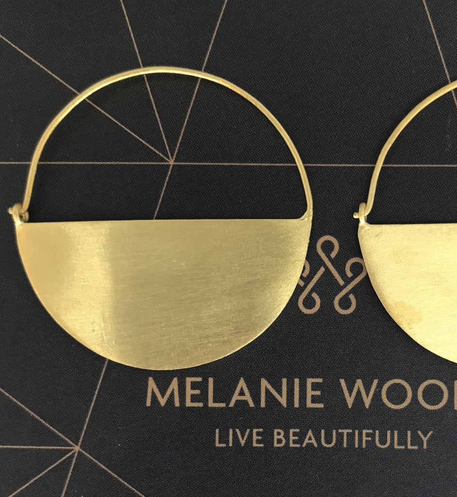 MELANIE WOODS - Half Round Hoop Earrings