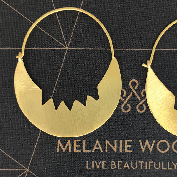 MELANIE WOODS - Edgy Hoop Earrings