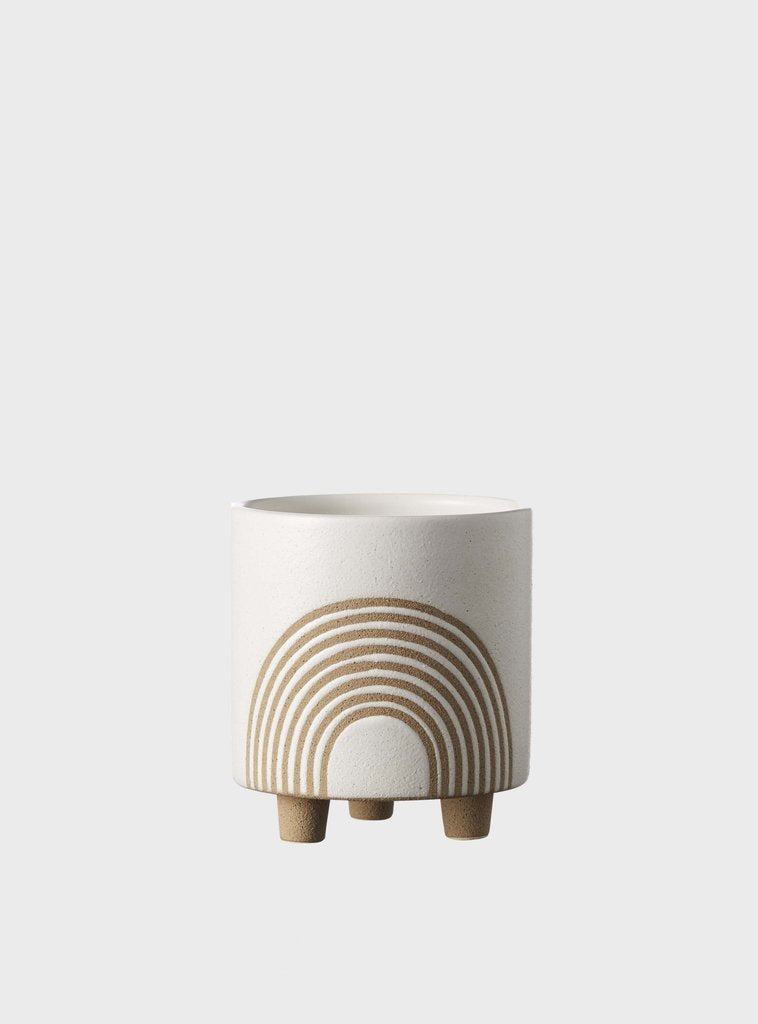 EVERGREEN COLLECTIVE Birch Pot - Small - Chalk