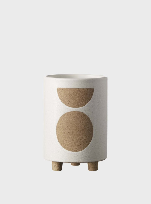 EVERGREEN COLLECTIVE Birch Pot - Tall - Chalk