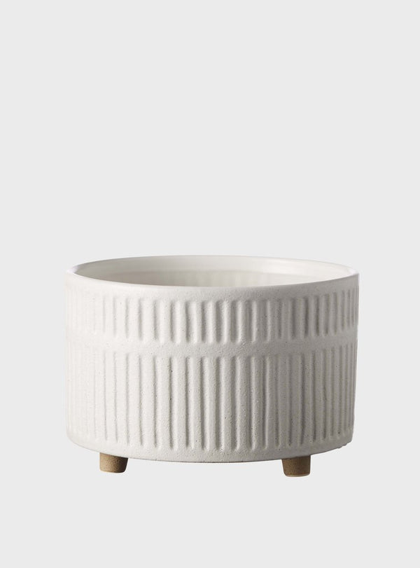 EVERGREEN COLLECTIVE Birch Pot - Wide - Chalk