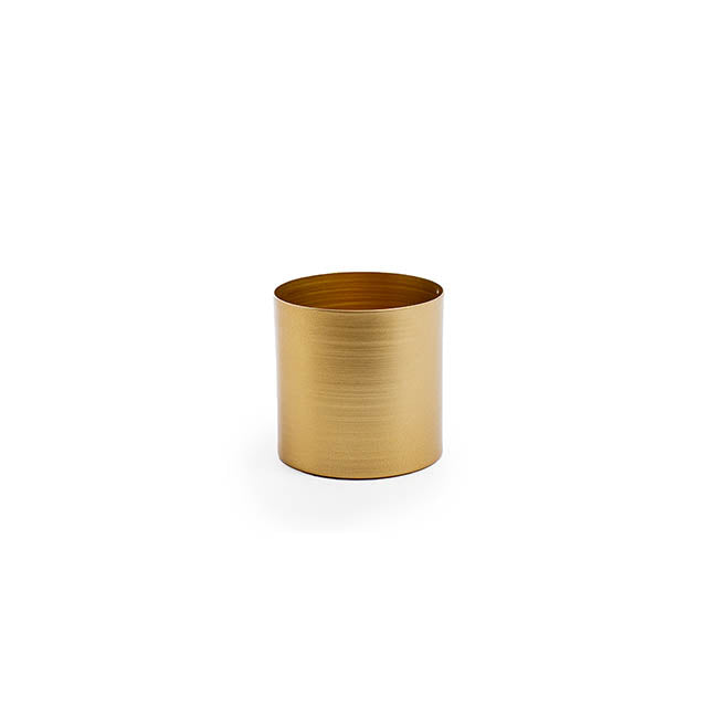 Matt Brass/Gold Metal Planter - 10cm