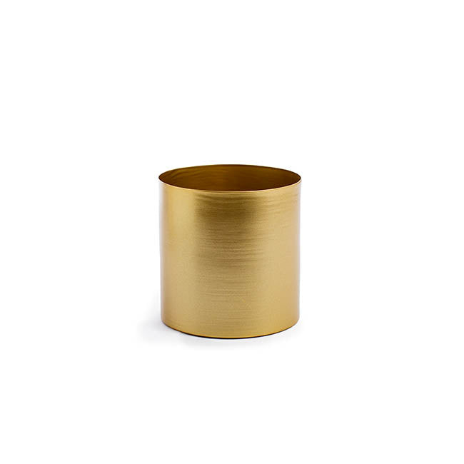 Matt Brass/Gold Metal Planter - 13cm