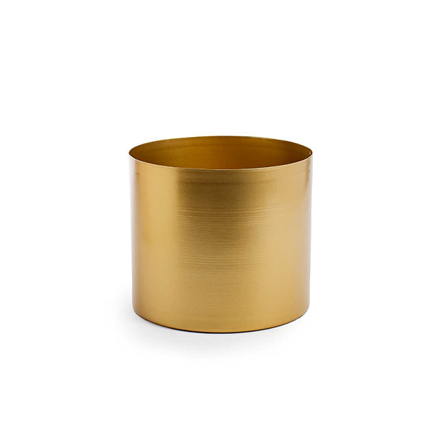 Matt Brass/Gold Metal Planter - 18cm