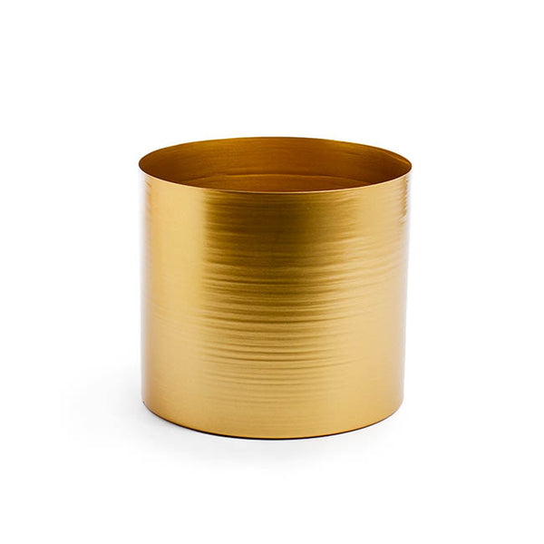 Matt Brass/Gold Metal Planter - 20cm