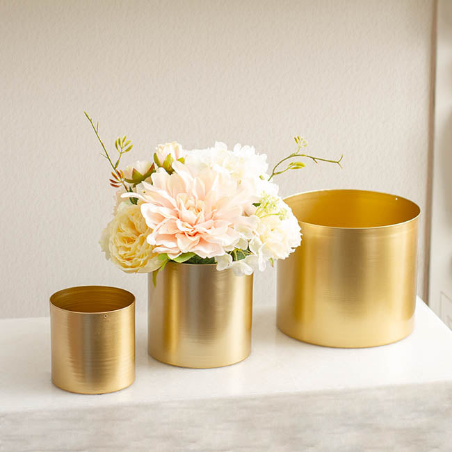 Matt Brass/Gold Metal Planter - Collection