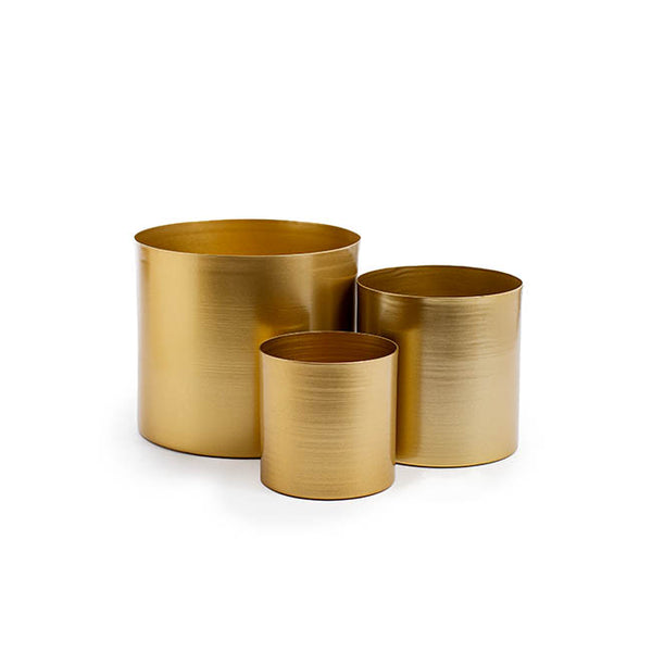 Matt Brass/Gold Metal Planter - Small