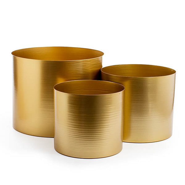 Matt Brass/Gold Metal Planter -Collection