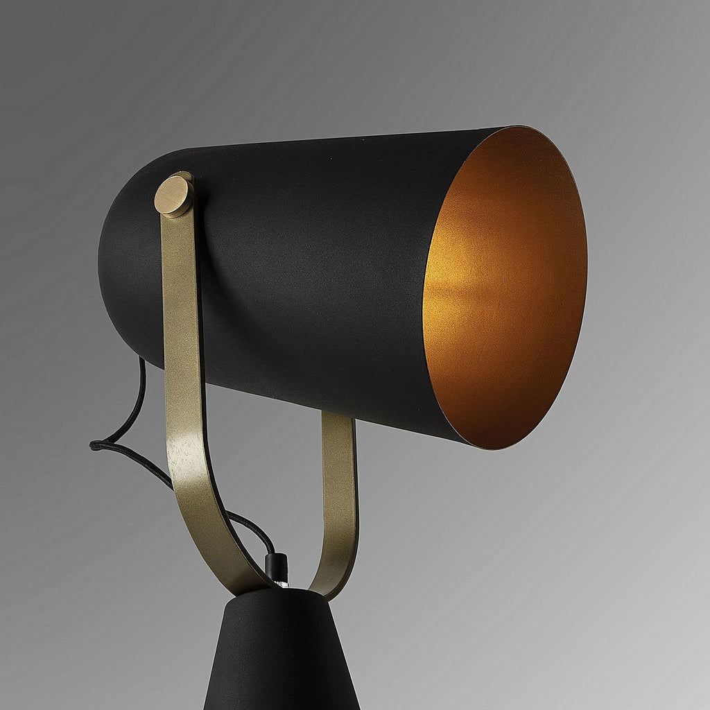 La Forma Briand Black Metal Floor Lamp