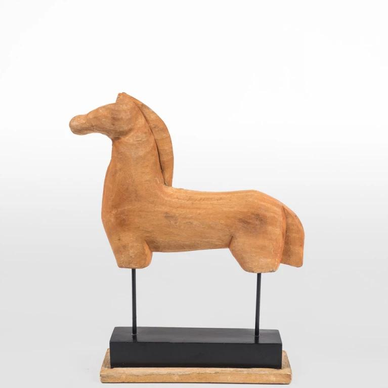 Hand Carved Timber Museum Horse - Large