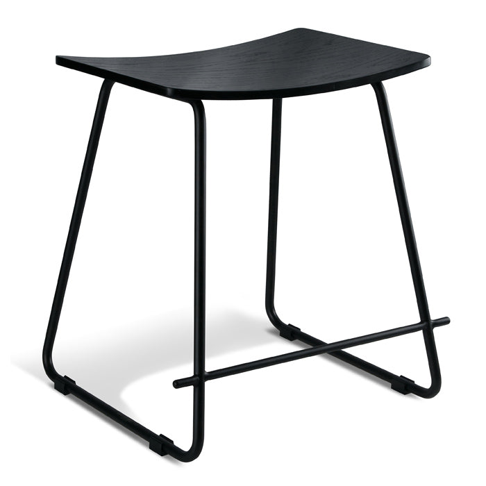 Chicago Low Stool - Black on Black
