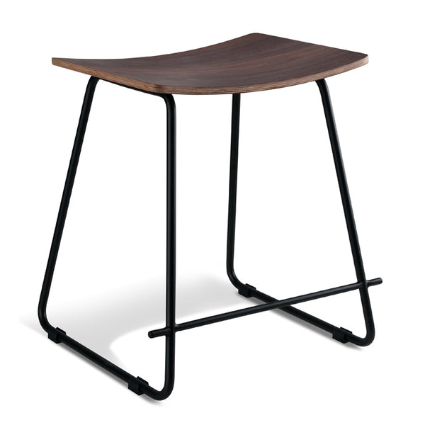 Chicago Low Stool - Walnut