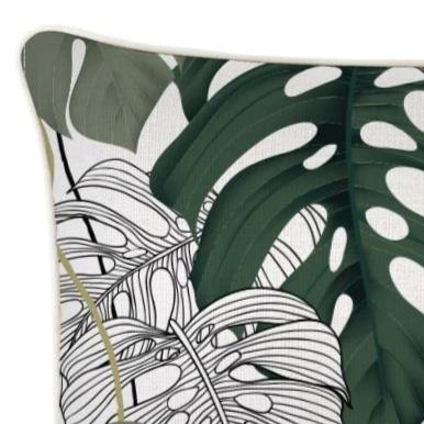 Alfresco Lumbar Cushion - Kona With Piping