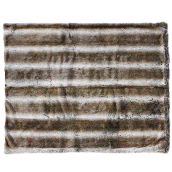 Heirloom Faux Fur Throw - Striped Elk