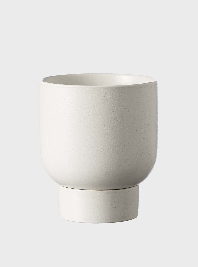 EVERGREEN COLLECTIVE Finch Pot - Soft White - Medium