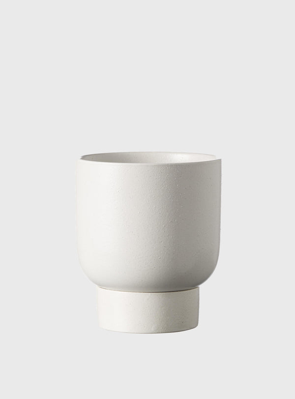 EVERGREEN COLLECTIVE Finch Pot - Soft White - Small
