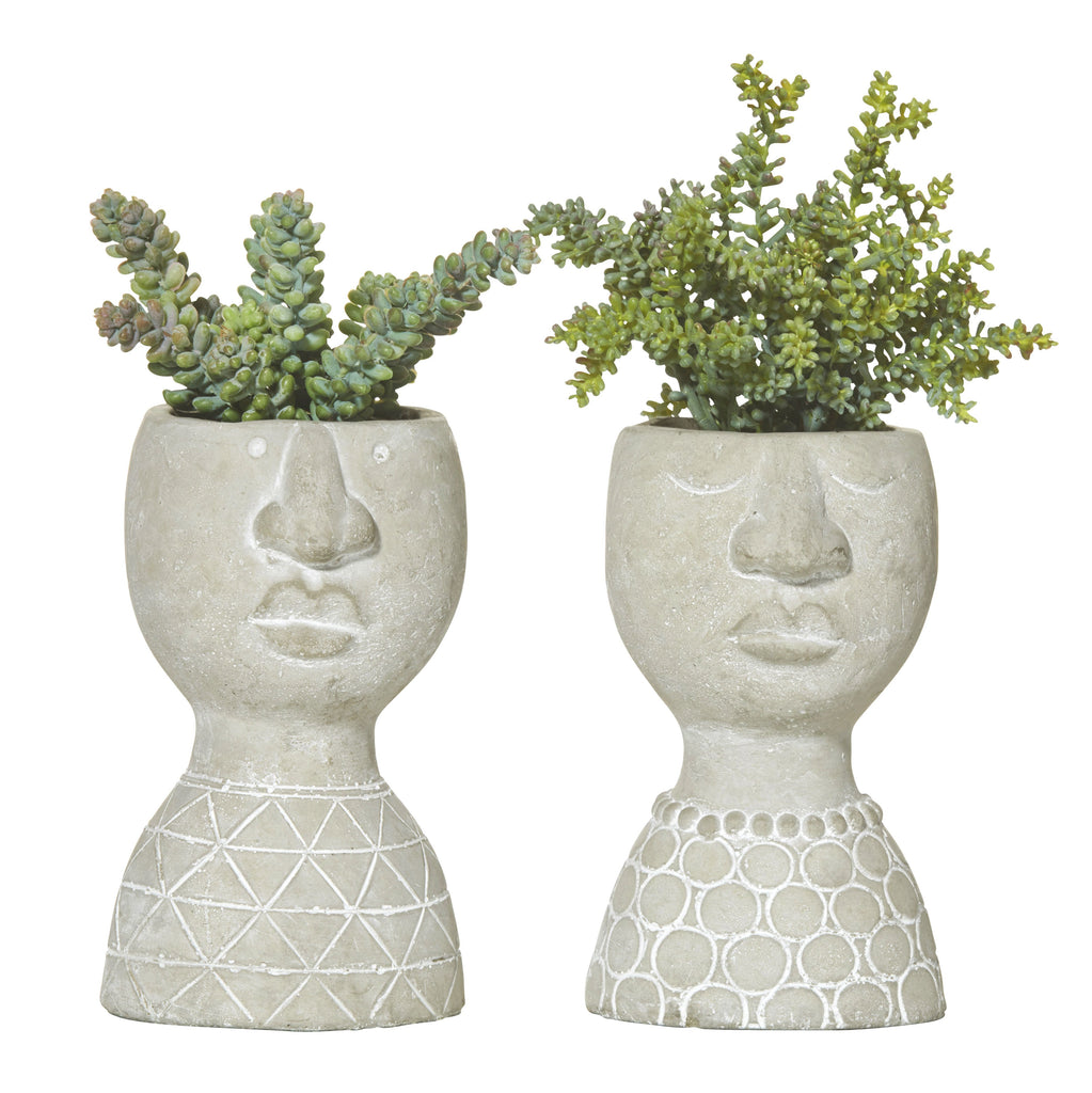 Gabbie Concrete Head Planter