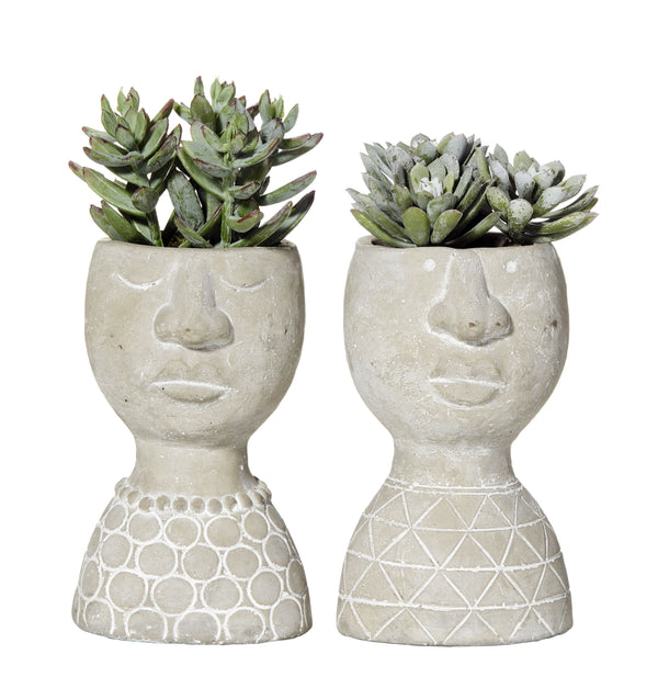 Gabriel Concrete Head Planter