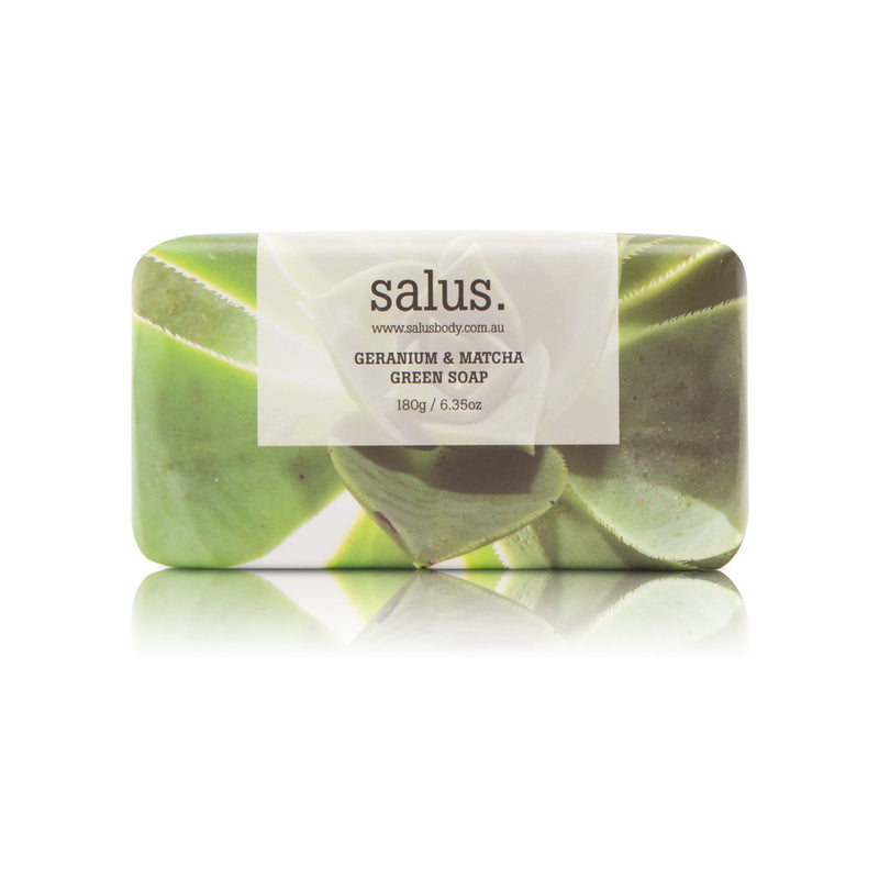 SALUS Geranium & Matcha Green Soap at Rodwell and Astor