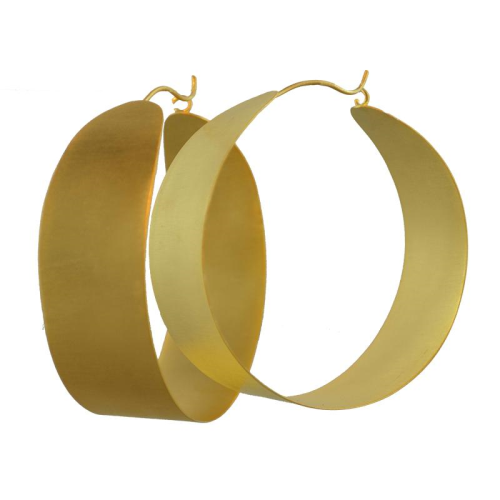 MELANIE WOODS - Wide Round Hoop Earrings