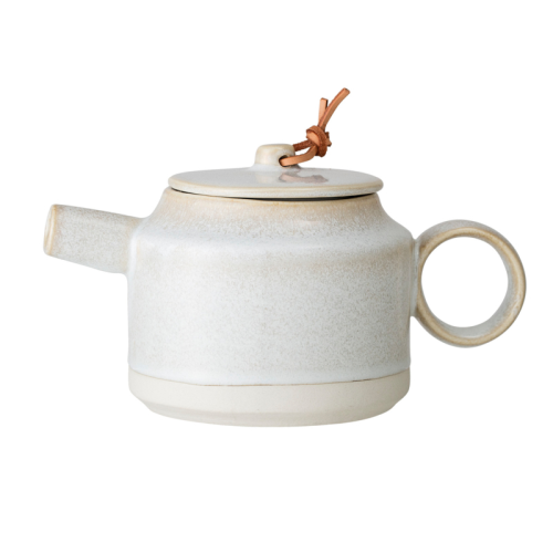 Bloomingville  Carrie Teapot - Cream Stoneware