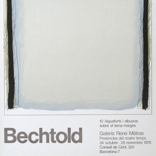 Bechtold - Framed Original Exhibition Poster 1978
