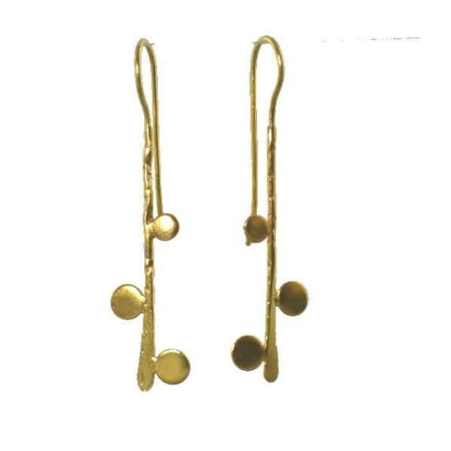 MELANIE WOODS - 3 Bubbles Hook Earrings